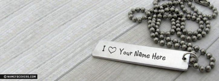 Lovely Bar Necklace Facebook Cover With Name