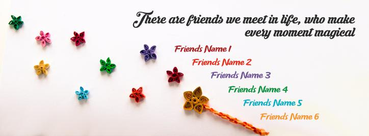 Magical Friends Facebook Cover With Name