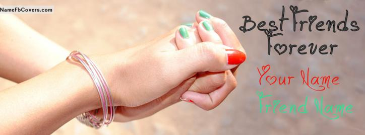 Me And You Best Friends Forever Facebook Cover With Name