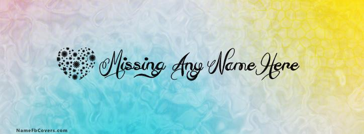 Missing Facebook Cover With Name
