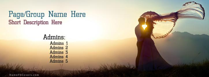 Most Romantic Couple Facebook Cover With Name