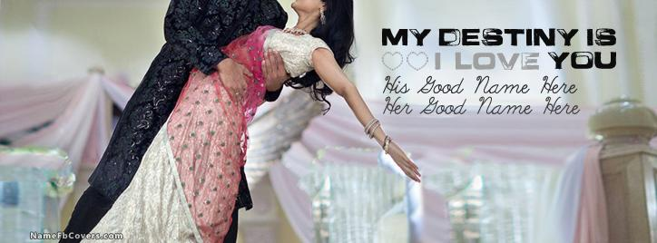 My Destiny Is You Facebook Cover With Name