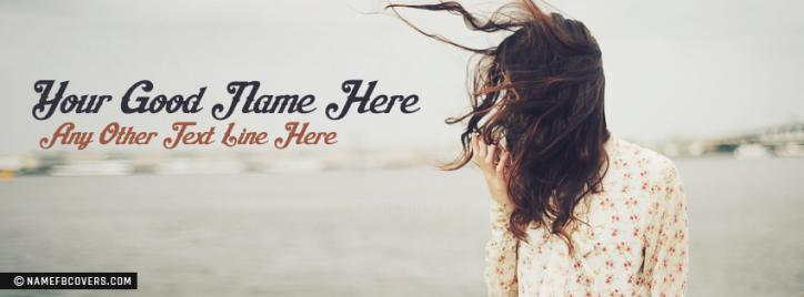Really Sad Girl Facebook Cover With Name