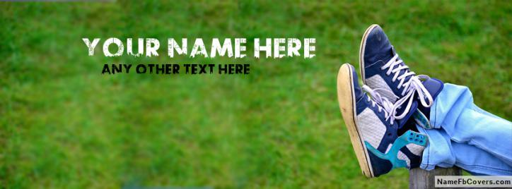 Relax Boy Sneakers Facebook Cover With Name