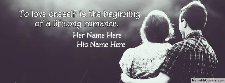 Love Facebook Covers With Couple Names - Romantic Couple Quote
