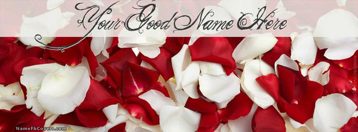 Rose Petals Facebook Cover With Name