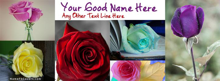 Roses Facebook Cover With Name