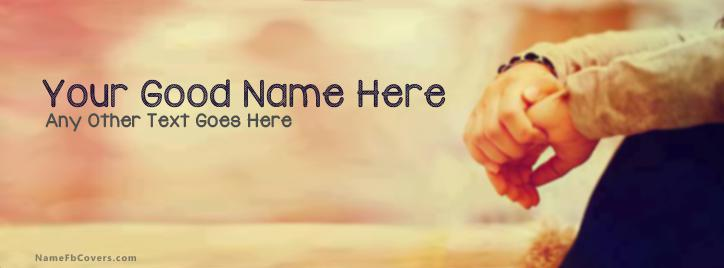 Sad Dude  Alone Facebook Cover With Name