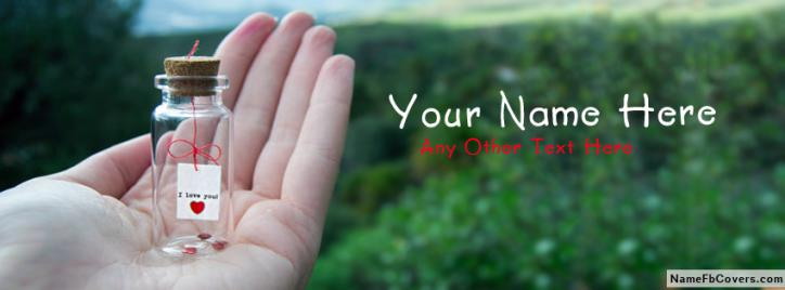 Special I Love You FB Name Cover - Cute Facebook Covers