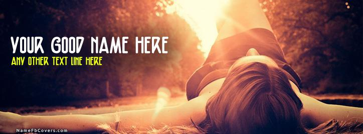 Stressed Girl Facebook Cover With Name