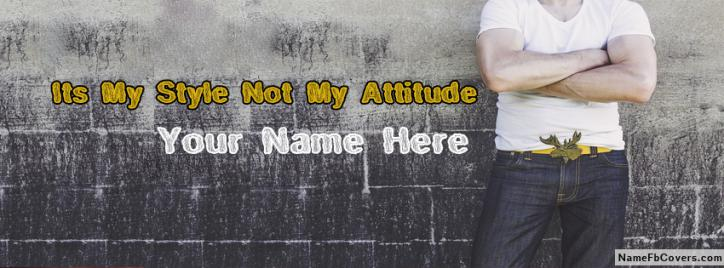 Stylish Body Guy Facebook Cover With Name