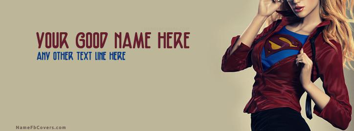 Super Woman Facebook Cover With Name
