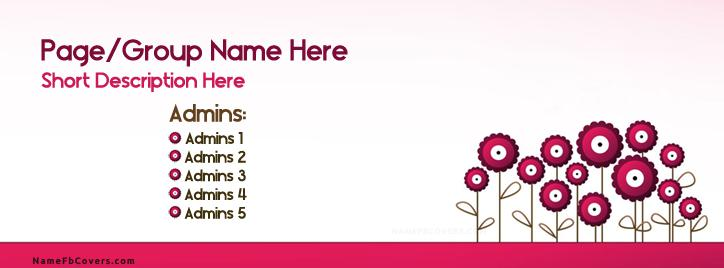 Vector Flowers Facebook Cover With Name