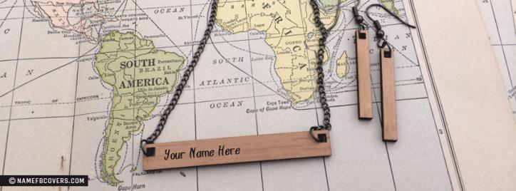 Wooden Beautiful Necklace Facebook Cover With Name