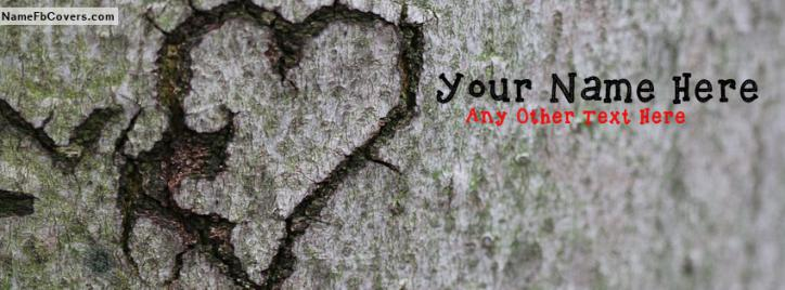 You Broke My Heart Facebook Cover With Name