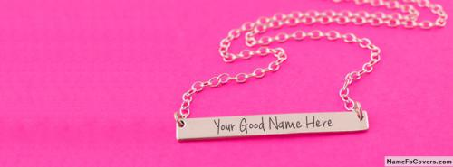 Beautiful Golden Neck Bar FB Cover With Name