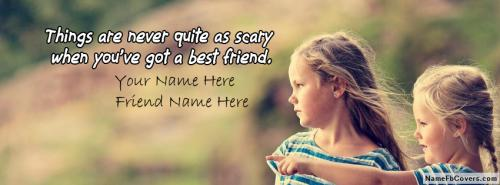 Best Friendship Forever FB Cover With Name
