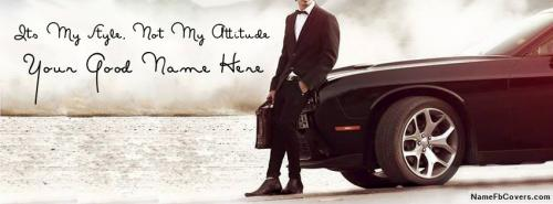 Best Stylish Attitude Boy FB Cover With Name