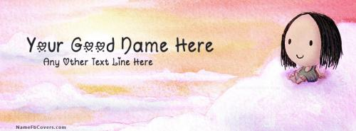 Cute Sky Girl FB Cover With Name