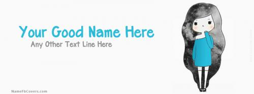 Cutie Girl FB Cover With Name