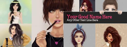 Drawing Girls Collage Facebook Cover