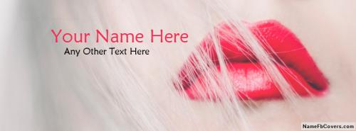 Gorgeous Red Lips Facebook Cover