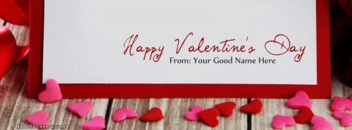 Happy Valentine Day FB Cover With Name