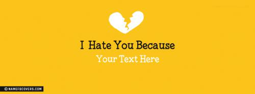 I Hate you because Facebook Cover