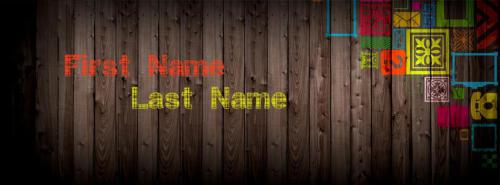 Wood Art FB Name Cover - Simple Facebook Covers