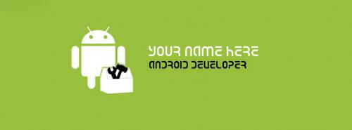 Android Developer FB Cover With Name