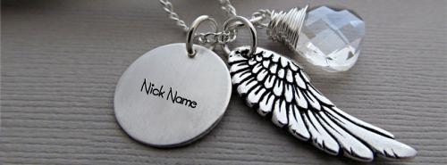 Angel Wing Necklace FB Cover With Name