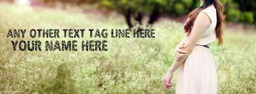 Beautiful Lonely Girl FB Cover With Name