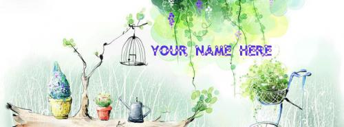 Beautiful Nature FB Cover With Name