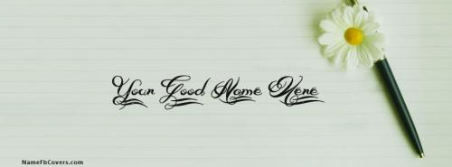 Beautiful Pen Art FB Cover With Name