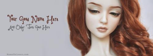 Beautiful Red Hair Doll FB Cover With Name