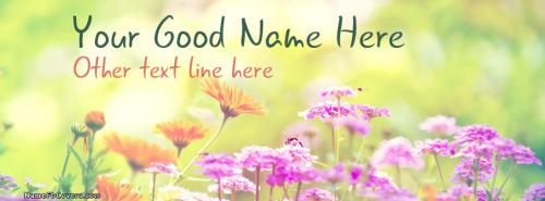 Beautiful Spring FB Cover With Name
