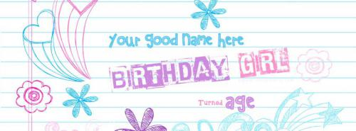 Birthday Girl FB Cover With Name