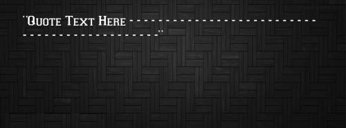 Black Pattern FB Cover With Name