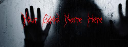 Black Scary Man FB Cover With Name