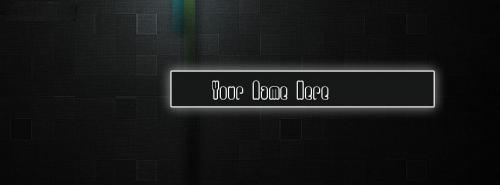 Black Wall FB Cover With Name