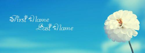 Awesome Blossom FB Cover With Name