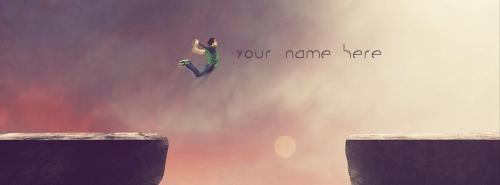 Boy Jumping FB Cover With Name