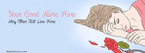 Name Facebook Covers For Girls - Broken Heart Girl