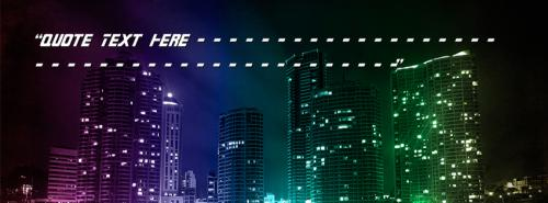 Buildings Night View FB Name Cover - Quotes Facebook Covers