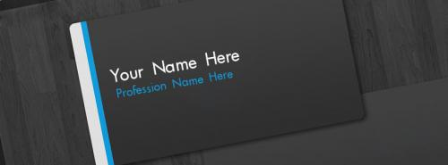 Business Card FB Cover With Name