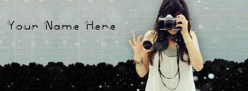 Camera Girl FB Cover With Name