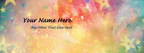 Colorful Stars Facebook Cover