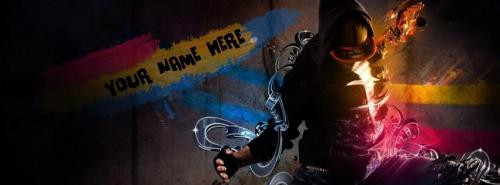 Cool Dancing Boy FB Cover With Name