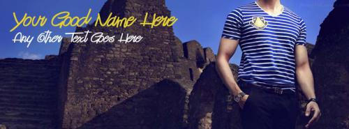 Cool Men Fashion FB Cover With Name