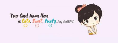Cute Sweet Lovely Girl FB Cover With Name